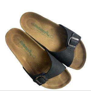 Bionatura Cork Black Slip On Sandals Size 40/9